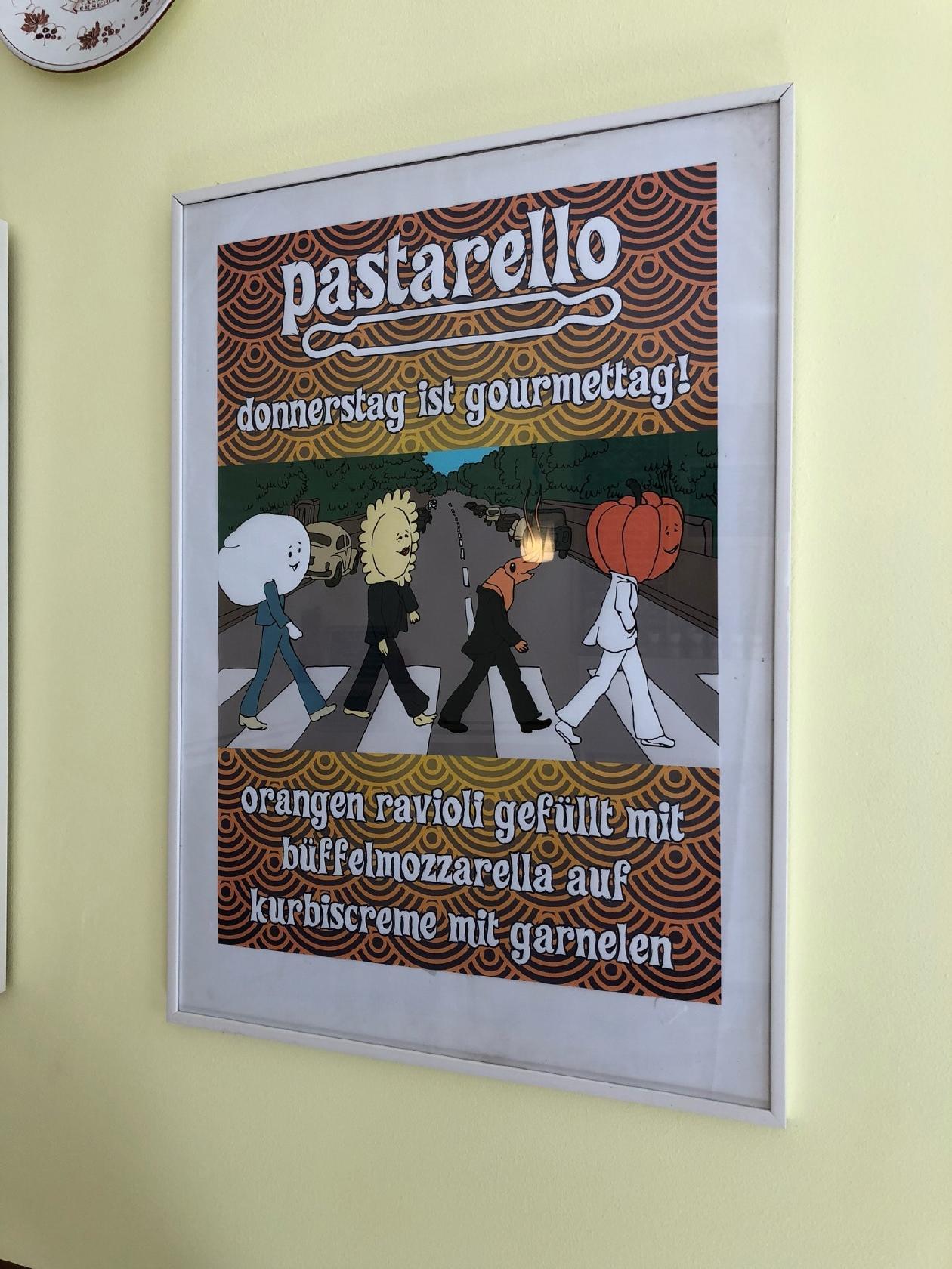 Die Werbung zeigt Informationen über Pastarello