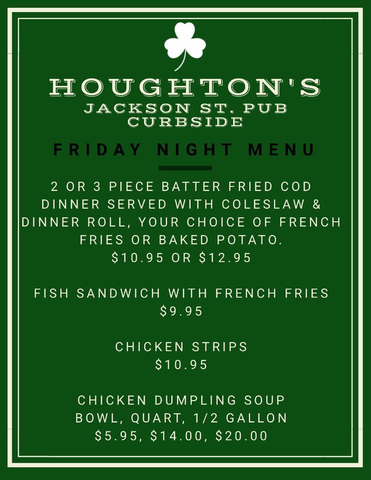 Here's the advertisement of Houghton's Jackson Street Pub