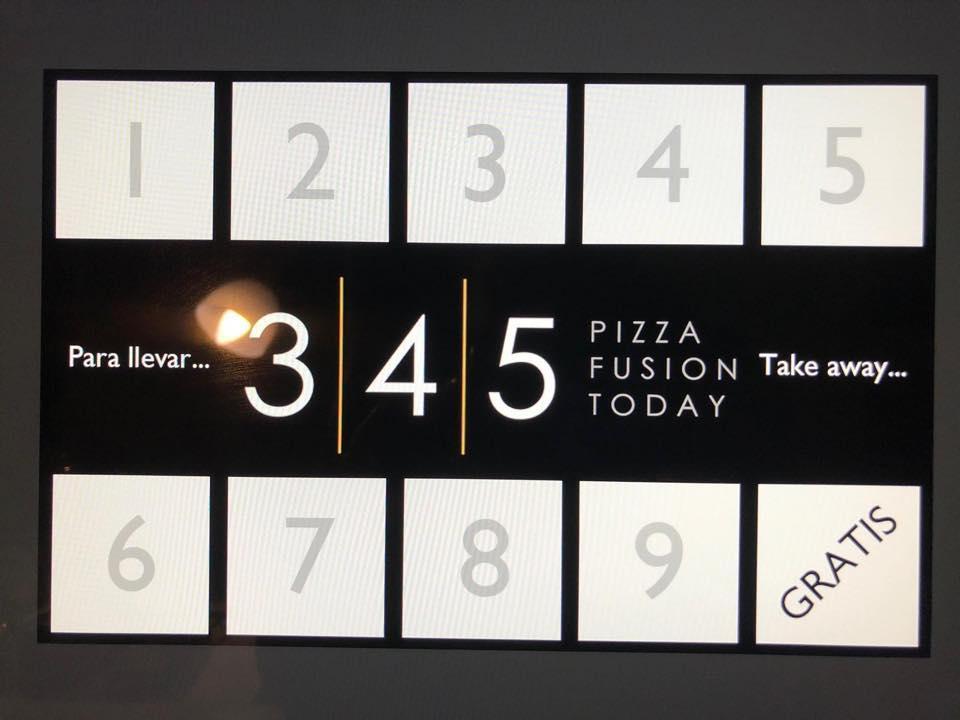 El logo de 345 Pizza Fusion Today