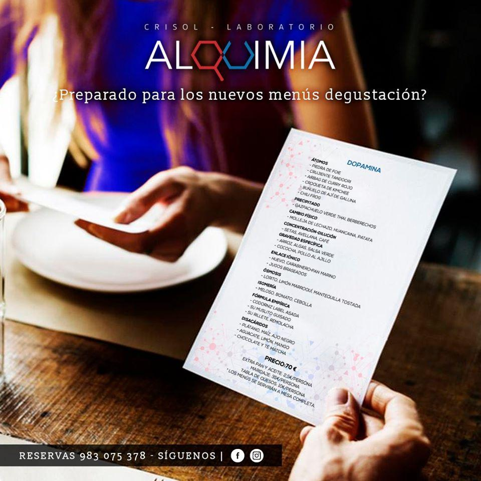 El anuncio muestra información sobre Alquimia