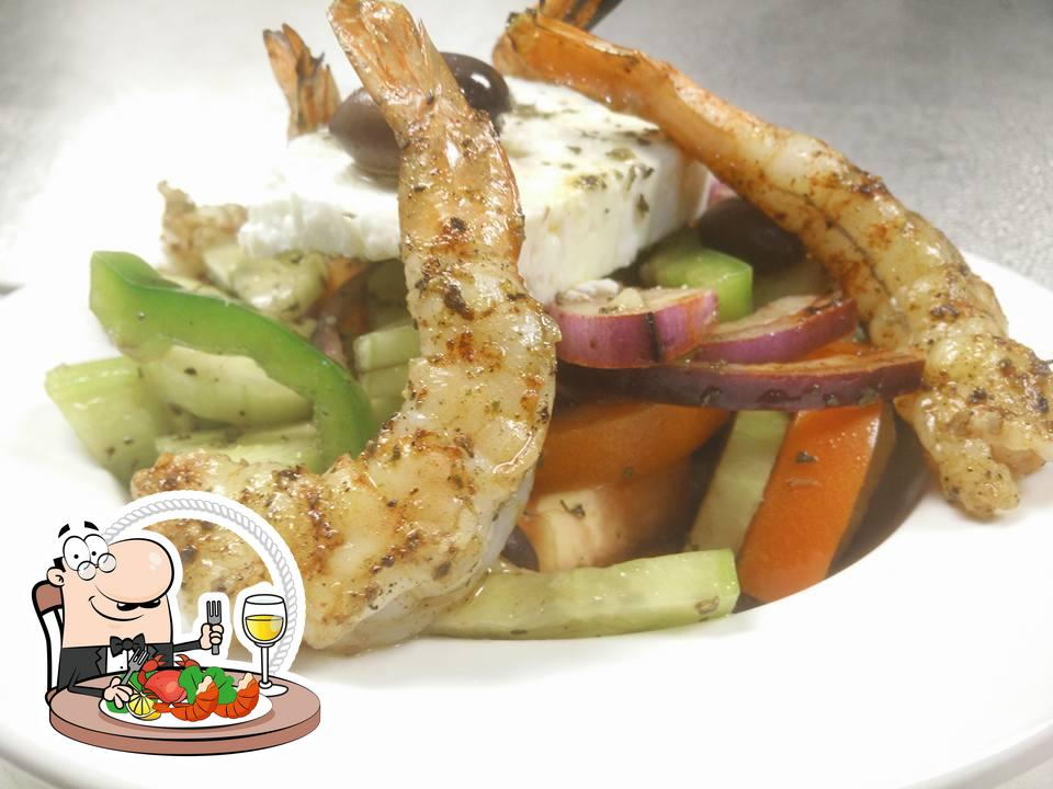 Try out seafood at Greek Taverna Table 2201