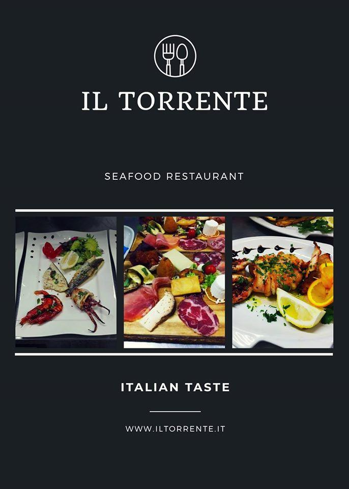 The advertisement shows information about IL Torrente Ristorante Pizzeria