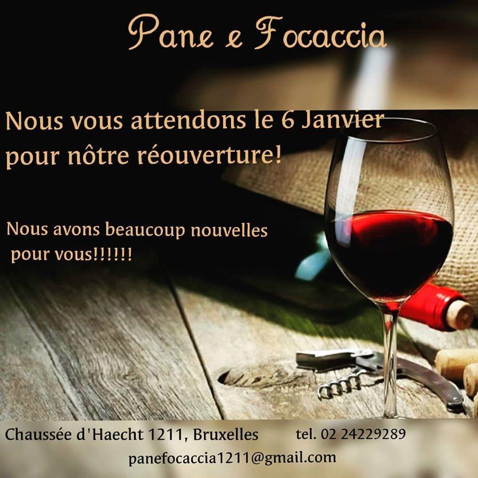 Savour a glass of wine at ristorante pane e focaccia