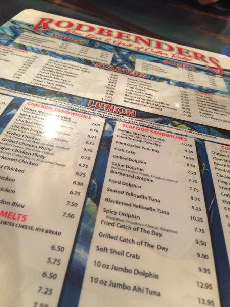 Take a look at the menu of Rodbenders Rawbar