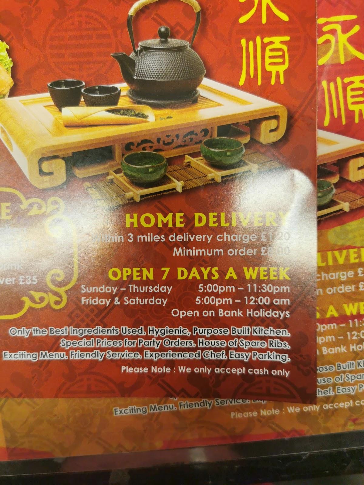 Menu Of Wingshun Take Away Food Shops Fast Food Rugeley Reviews And Ratings