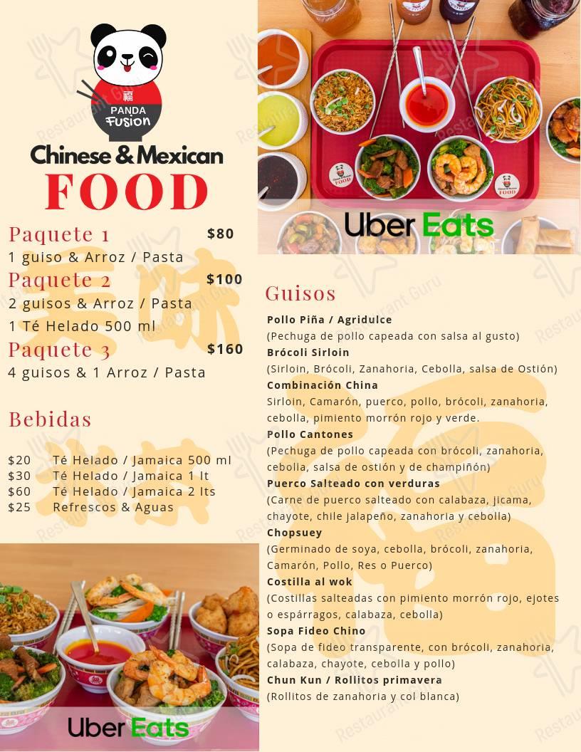 Menu Of Panda Fusion Restaurant Cabo San Lucas Reviews And Ratings