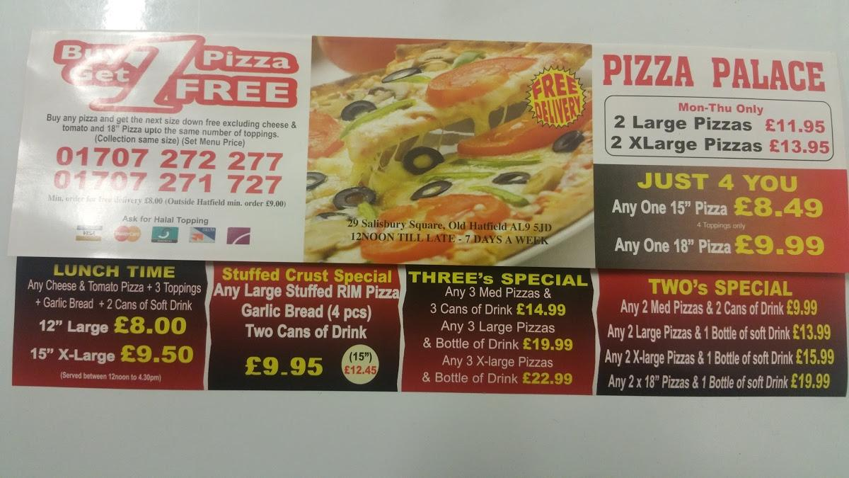 Pizza Palace In Hatfield Restaurant Menu And Reviews
