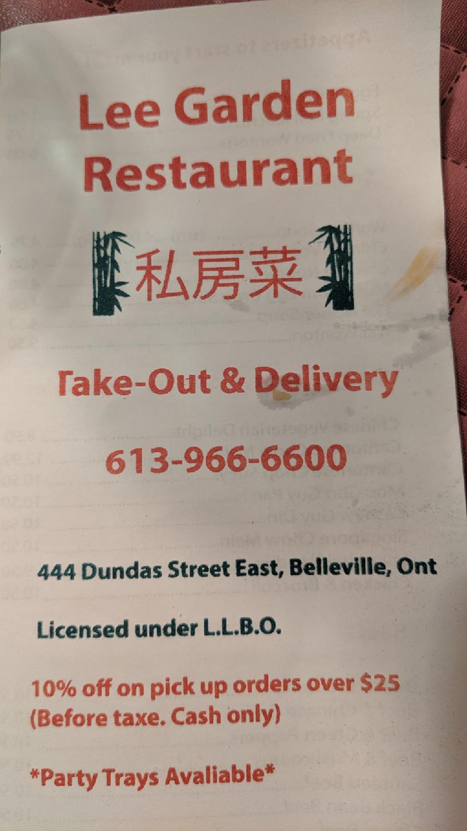 Lee S Garden Restaurant In Belleville Restaurant Reviews