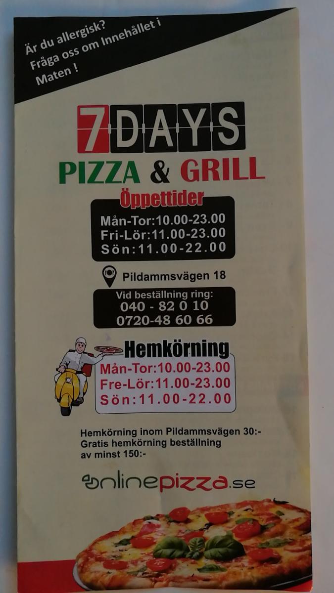 pizzeria malmö hemkörning