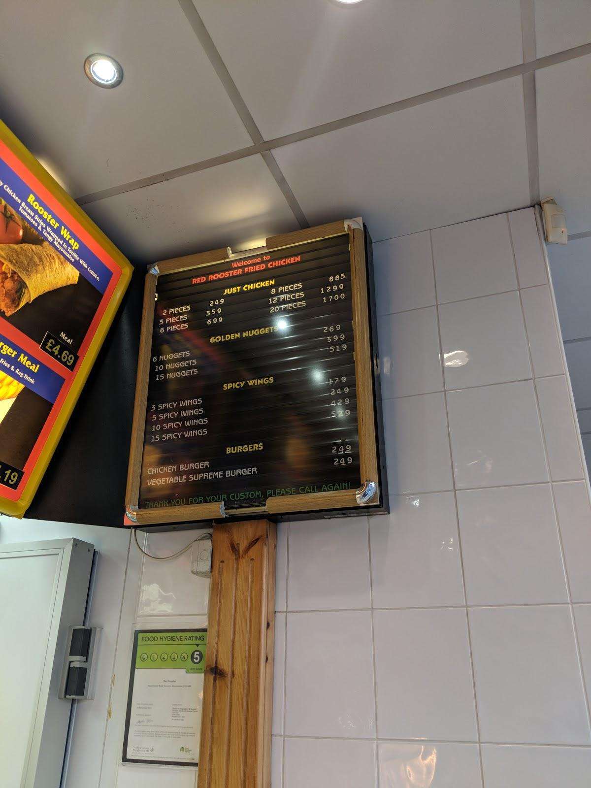 Red Rooster 269 Haunchwood Rd In Nuneaton Restaurant Reviews