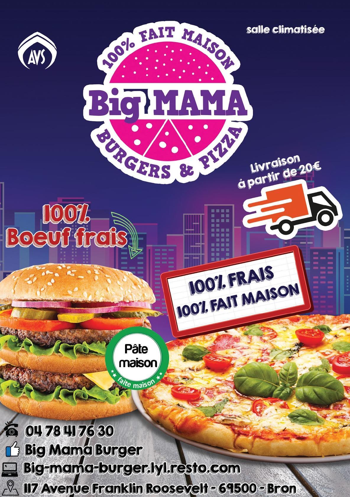 Big Mama Burger Restaurant Bron Restaurant Reviews