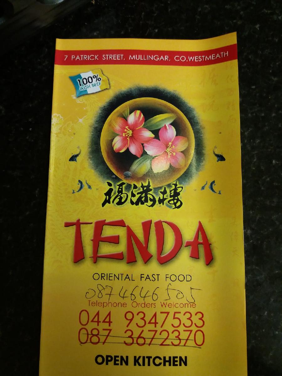 Tenda Fast Food In Mullingar Restaurant Menu And Reviews