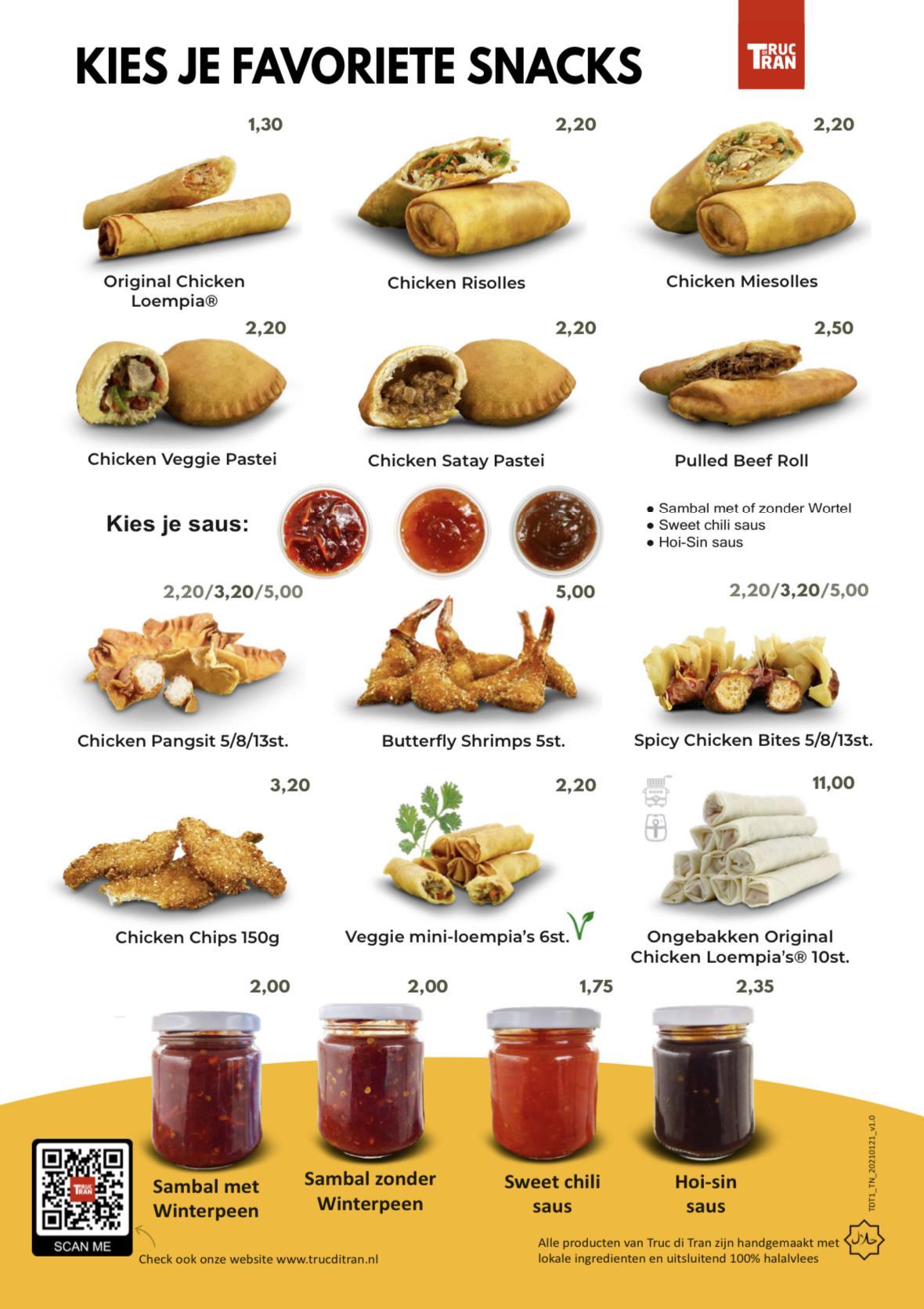 Truc di Tran menu