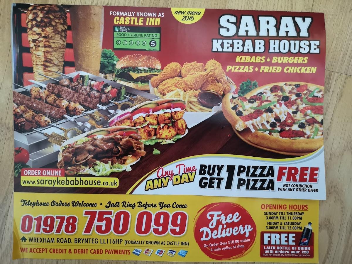 Saray Kebab House In Wrexham Restaurant Menu And Reviews