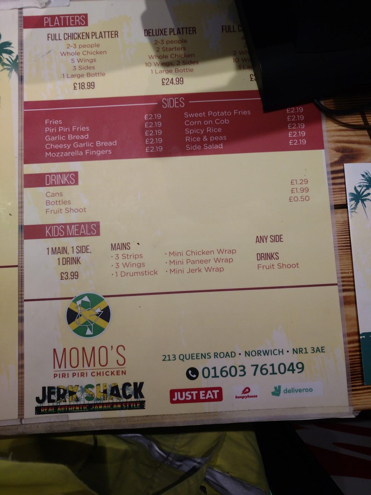 Momos Piri Piri In Norwich Restaurant Menu And Reviews
