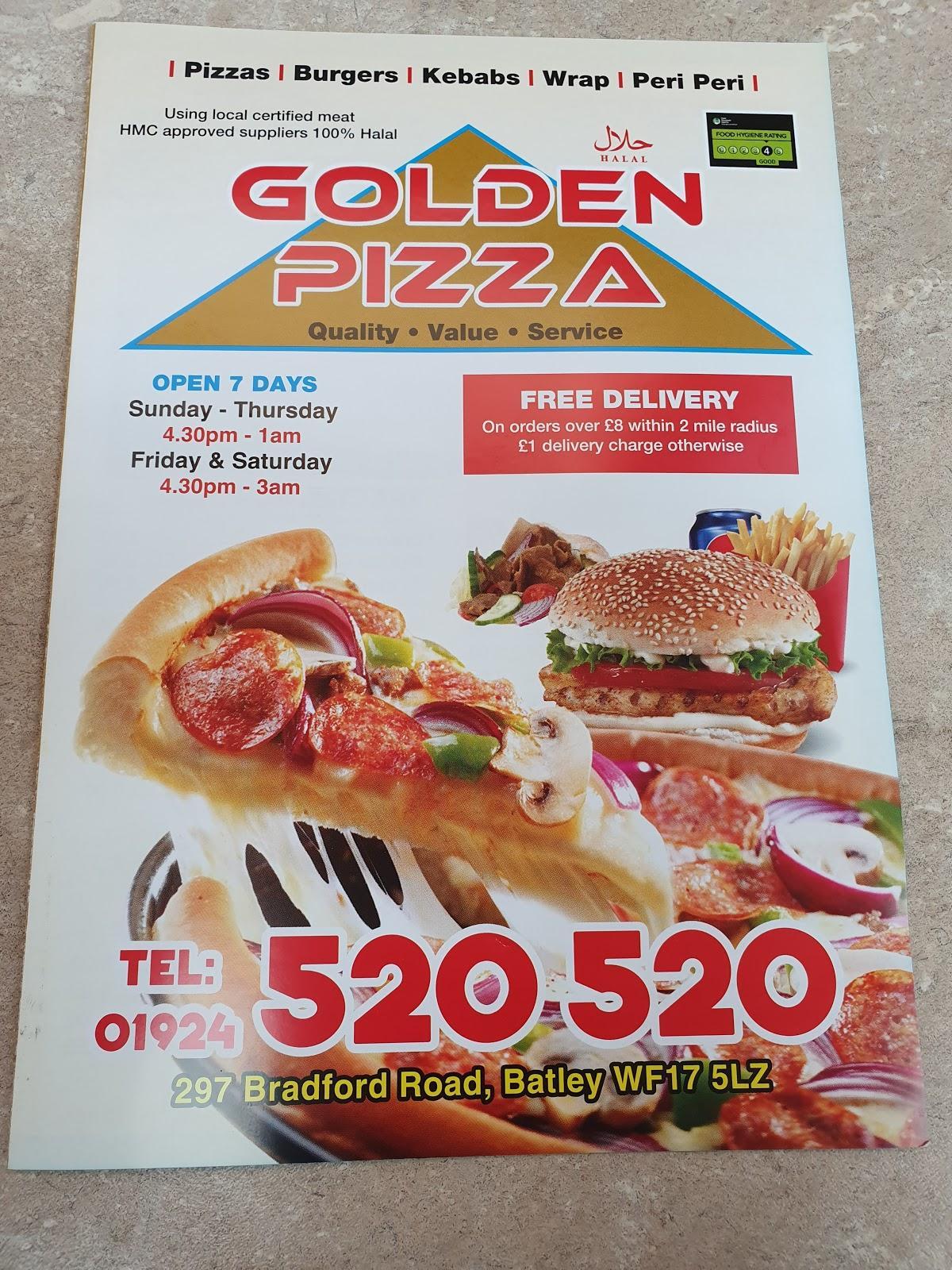 Golden Pizza 297 Bradford Rd In Batley Restaurant Menu