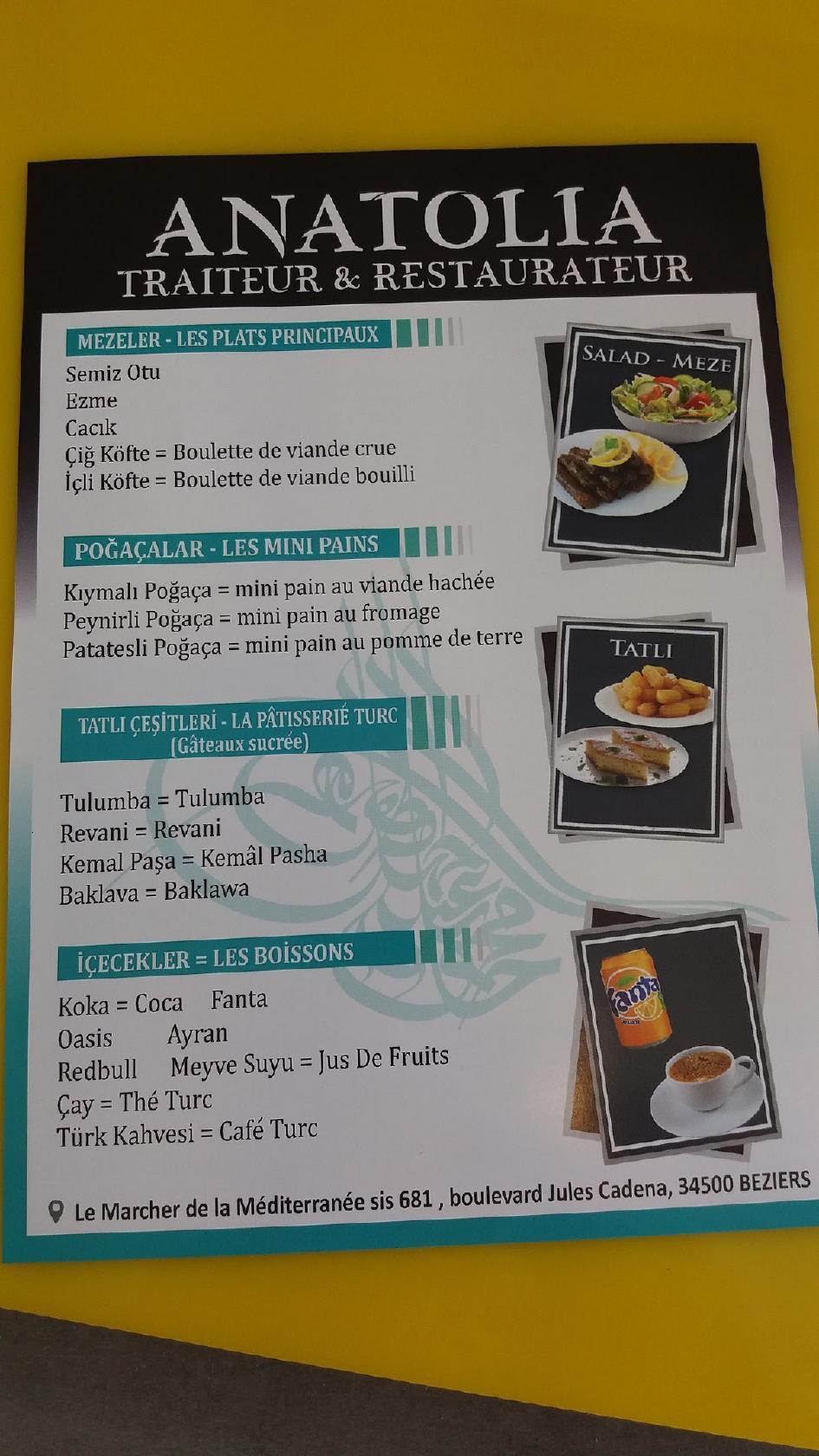 Anatolia Traiteur Restaurant Beziers Restaurant Reviews
