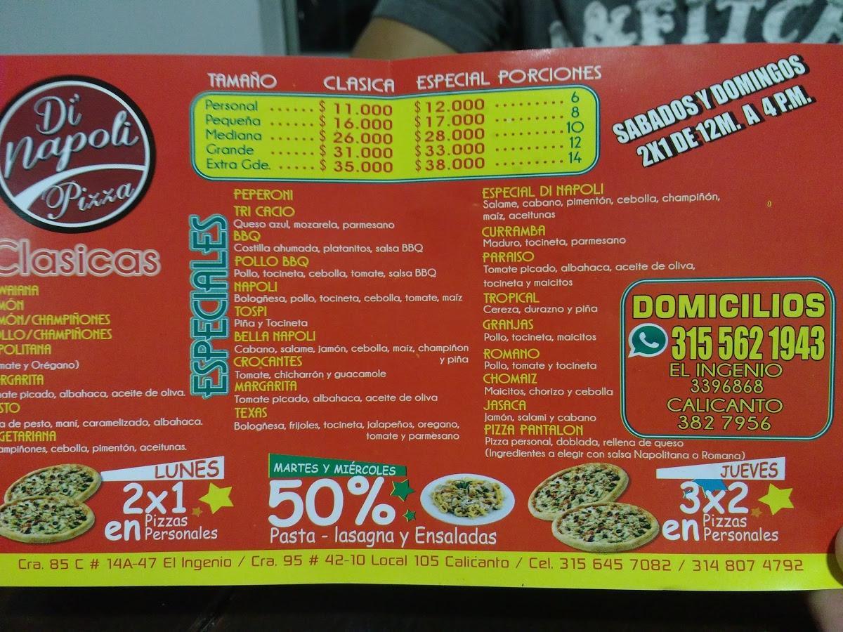 Di Napoli Pizza Restaurant Cali Restaurant Reviews