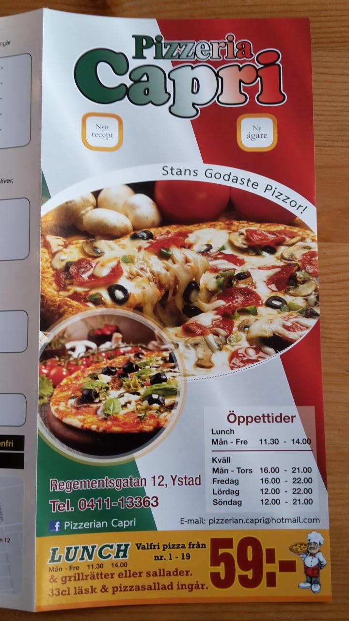 pizzeria capri ystad