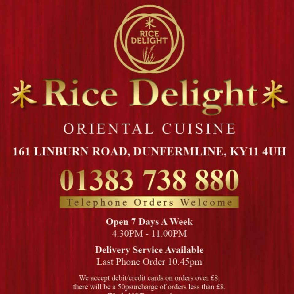 Rice Delight In Dunfermline Restaurant Menu And Reviews
