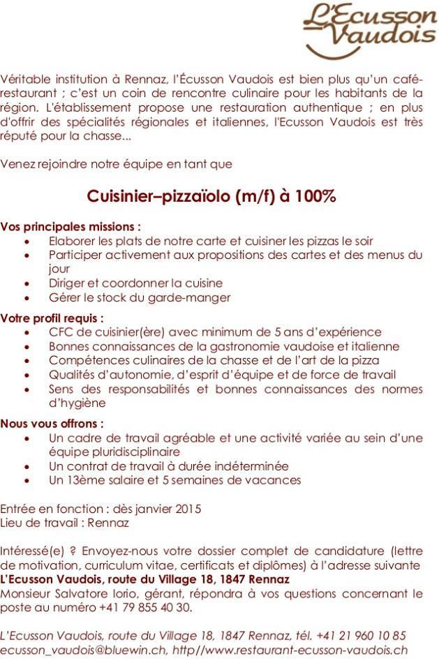L Ecusson Vaudois Rennaz Route Du Village 18 Restaurant Menu