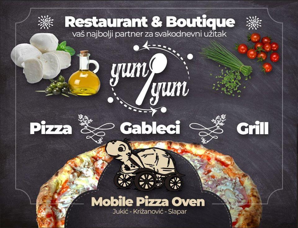 Yumiyum Restaurant Bouthique Odranski Obrez Restaurant Menu