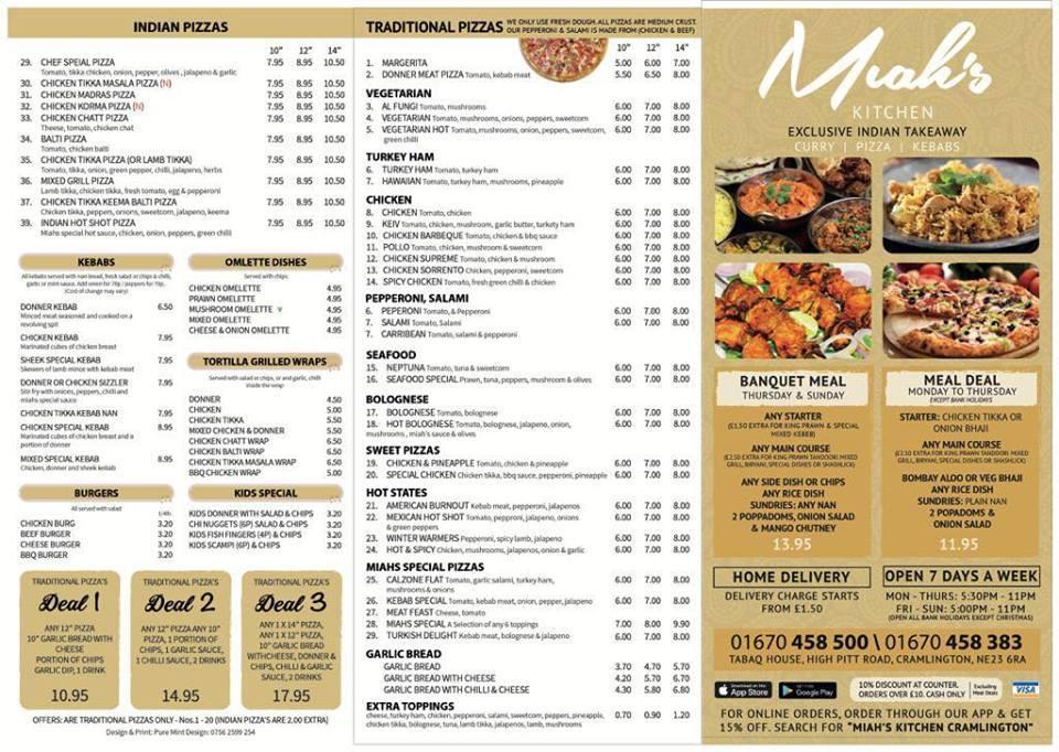 Miah S Kitchen Cramlington Ltd In Cramlington Restaurant Reviews