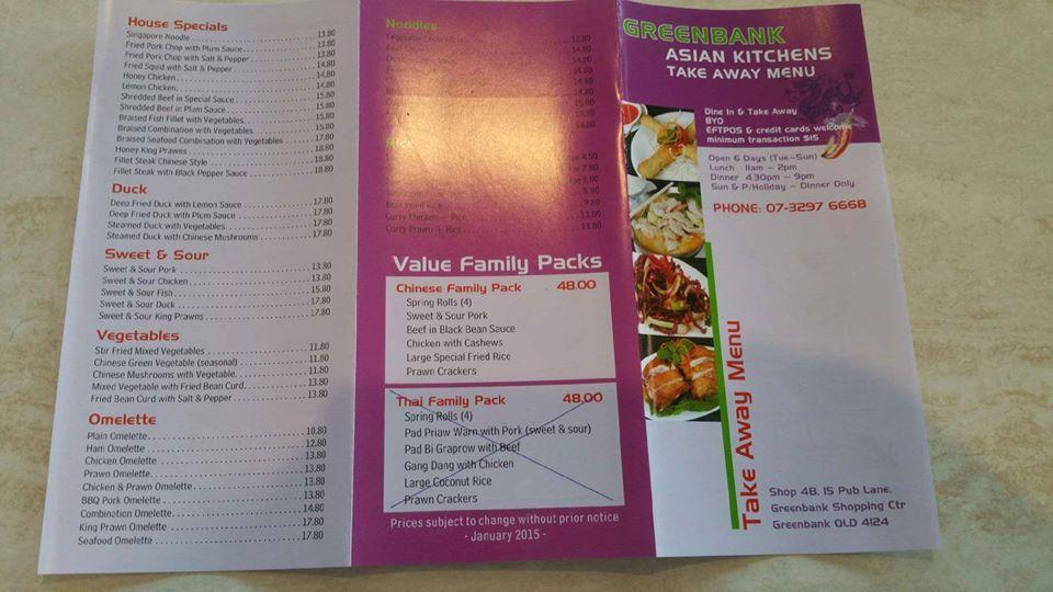 Greenbank Asian Kitchens In Greenbank Restaurant Menu And Reviews