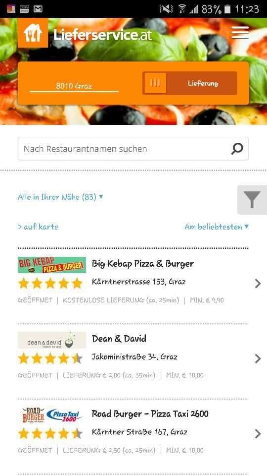 Big Kebap Pizzeria Graz Restaurant Menu And Reviews