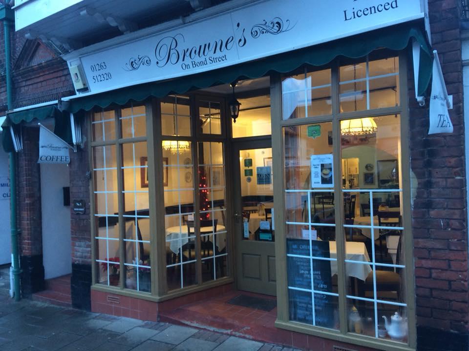 Brownes On Bond Street In Cromer Restaurant Menu And Reviews
