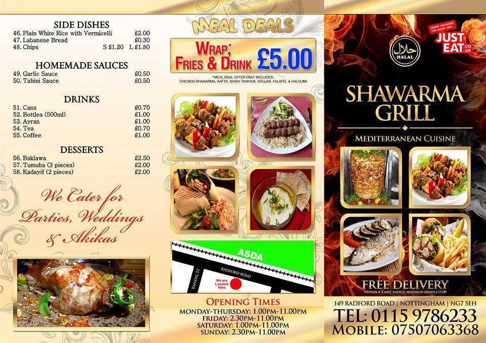 Shawarma Grill In Nottingham Restaurant Menu And Reviews