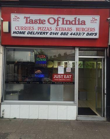 Taste Of India 2083 Paisley Rd W In Glasgow Restaurant