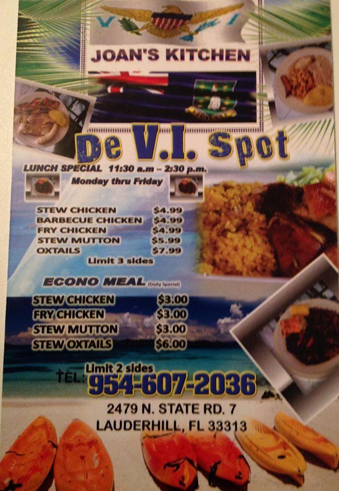 Joan S Kitchen De Vi Spot In Lauderhill Restaurant Menu And Reviews