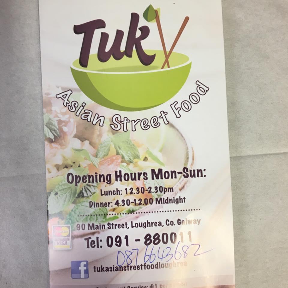 Review of TUK Away Asian street food, Loughrea, Ireland