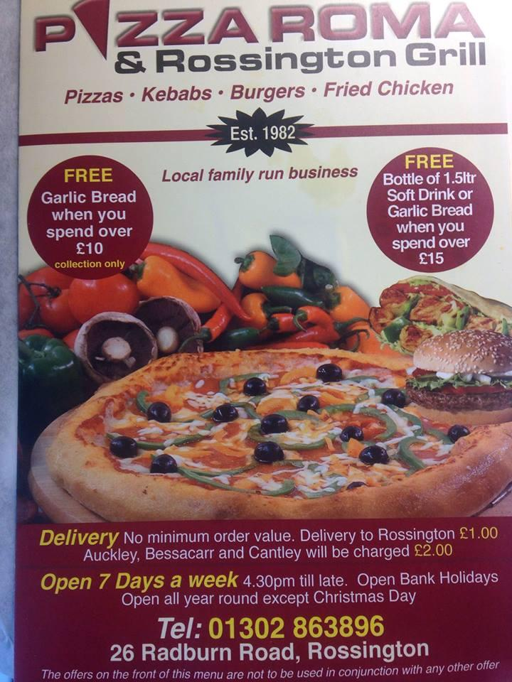 Pizza Roma In Doncaster Restaurant Menu And Reviews