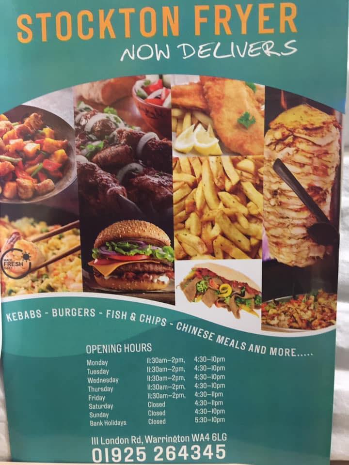 Stockton Fryer 111 London Rd In Warrington Restaurant