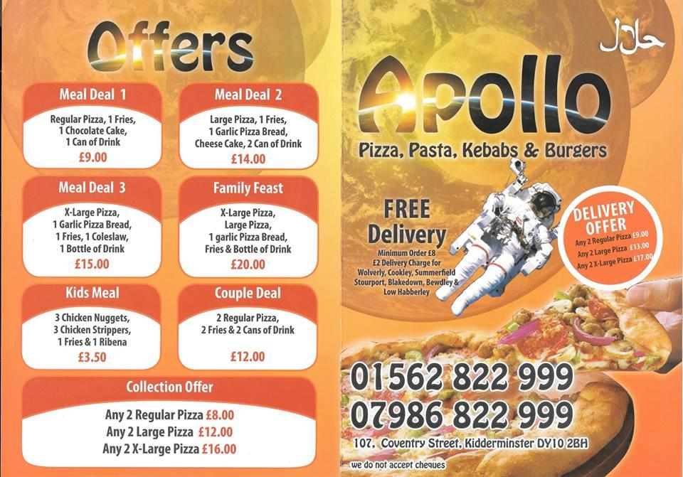Apollo Pizza In Kidderminster Restaurant Menu And Reviews