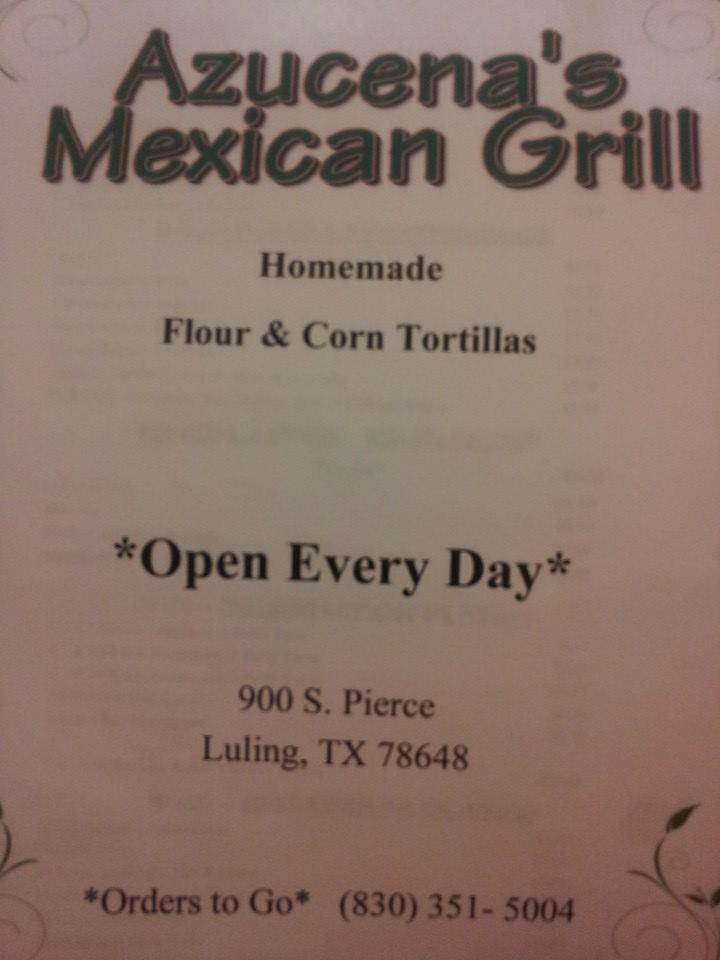 Azucena S Mexican Grill In Luling Restaurant Menu And Reviews
