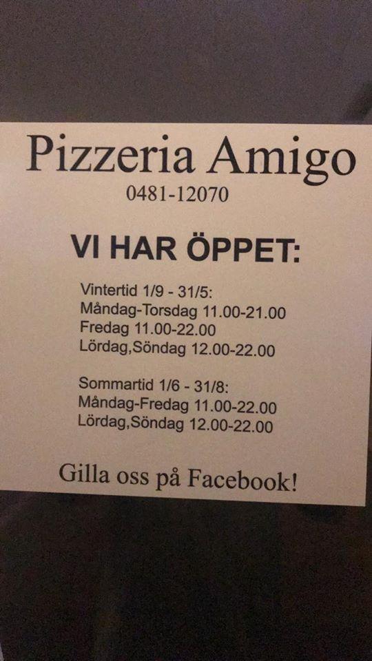 pizzeria amigo nybro