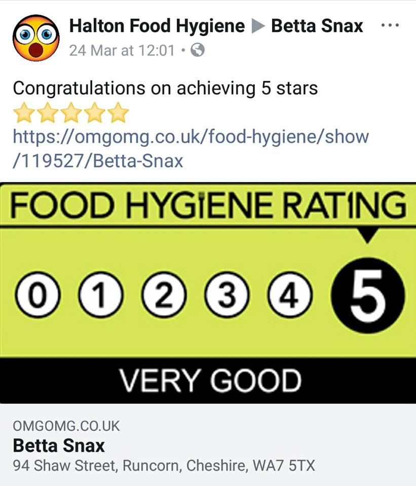Betta Snax In Runcorn Restaurant Menu And Reviews