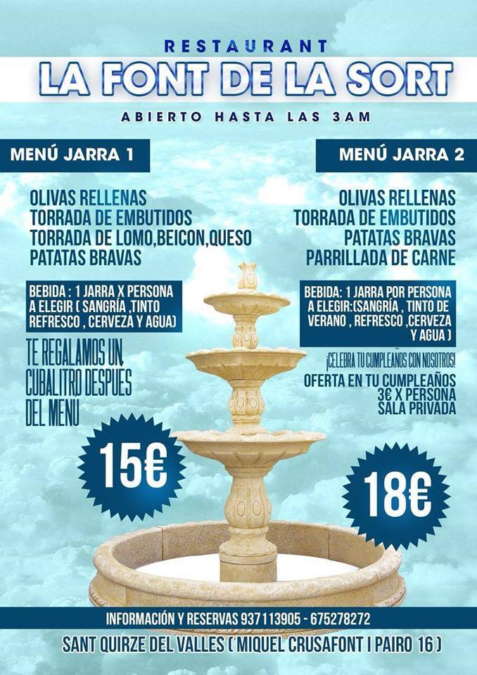 Restaurante La Font Del La Sort San Quirico Del Vallés Opiniones Del Restaurante