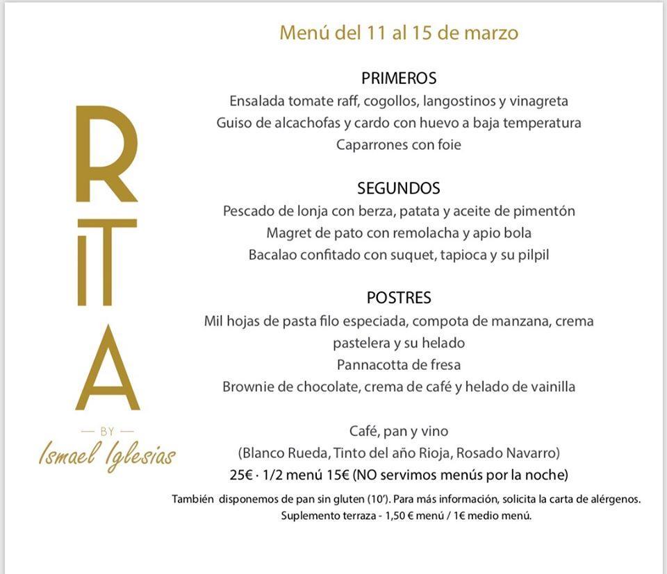 Restaurante Rita In San Sebastián Restaurant Menu And Reviews