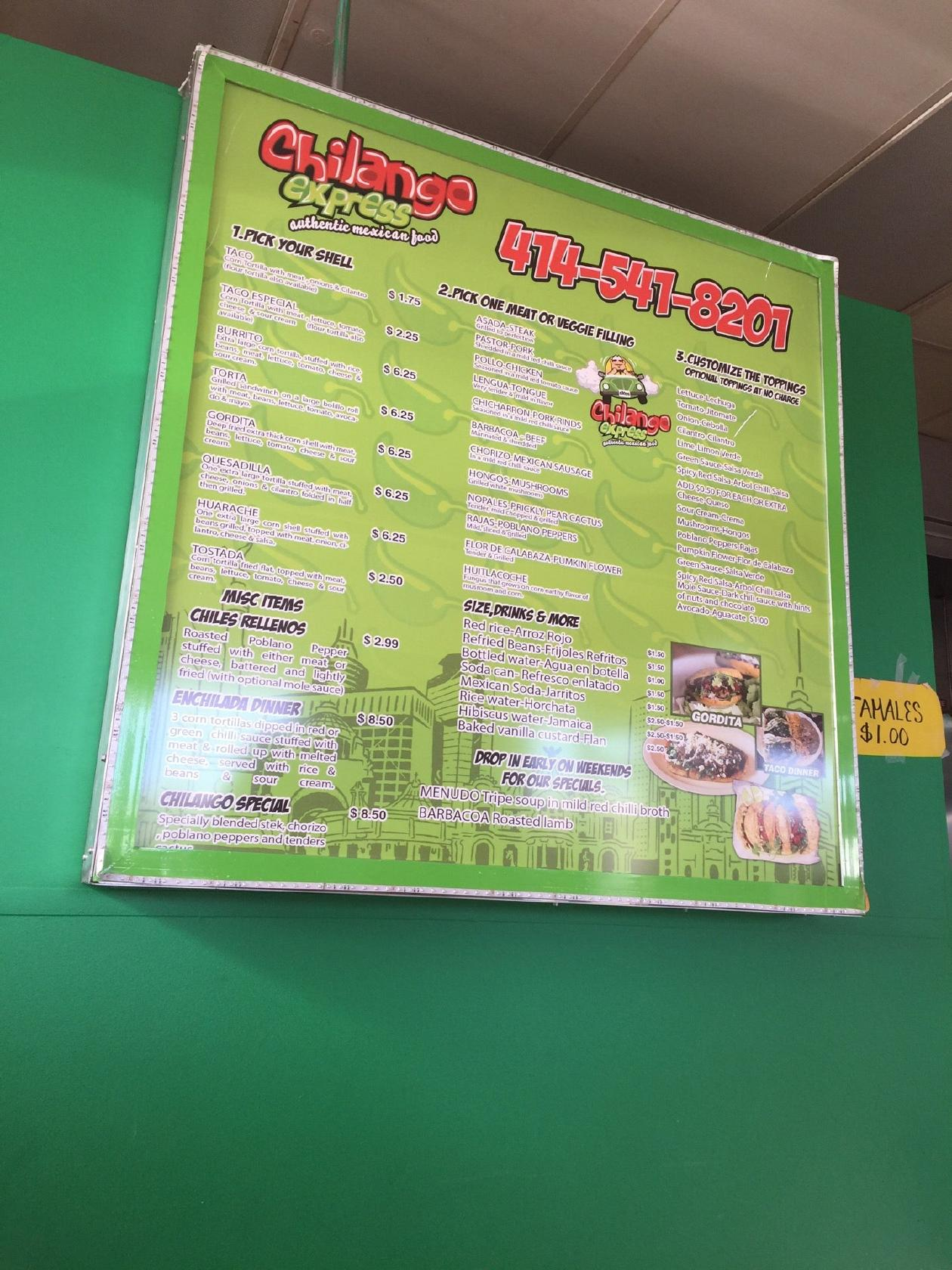 Chilango Express Llc 7030 W Lincoln Ave In West Allis Restaurant Menu And Reviews