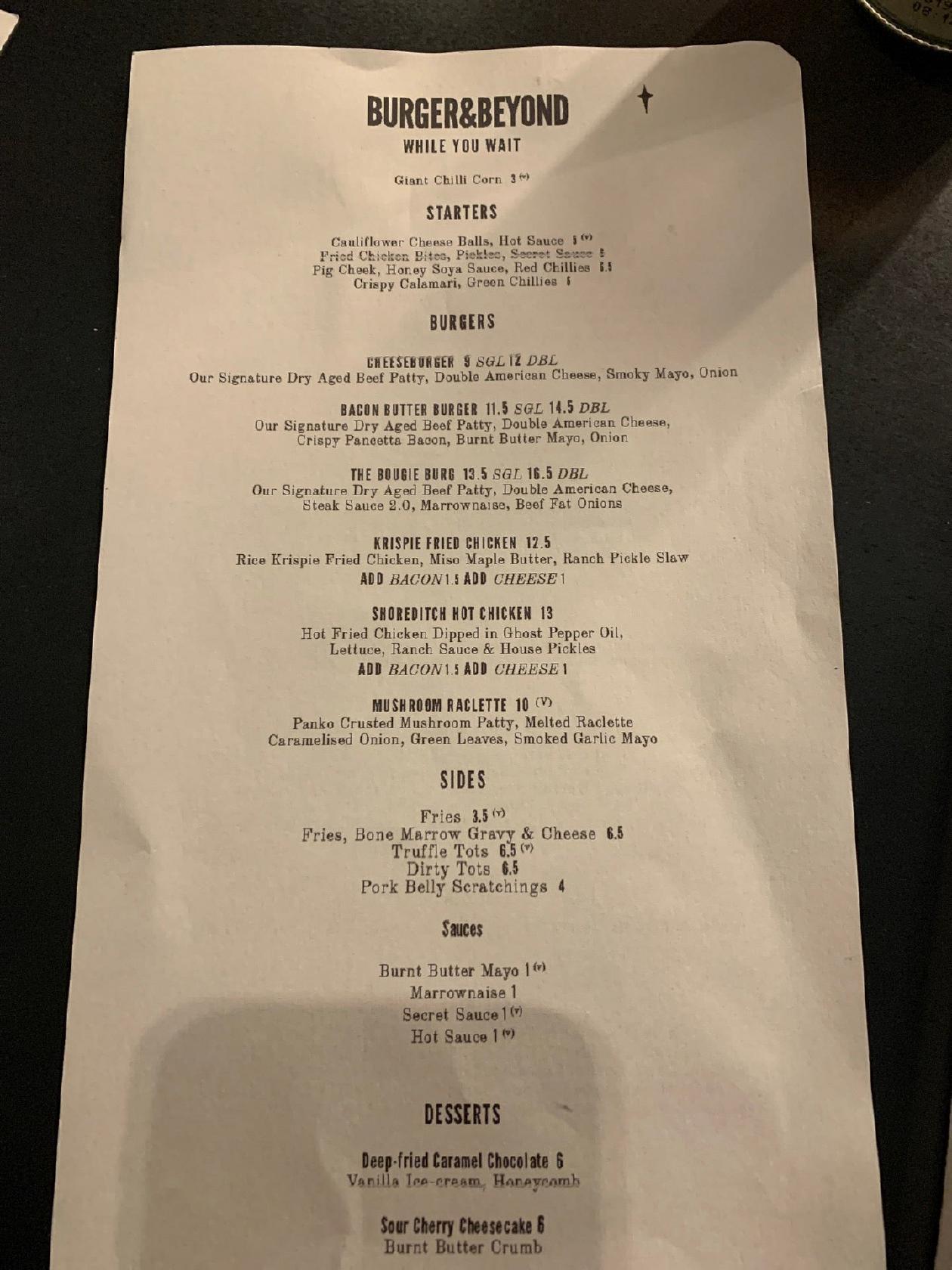 Burger Beyond 147 Shoreditch High St In London Restaurant Reviews