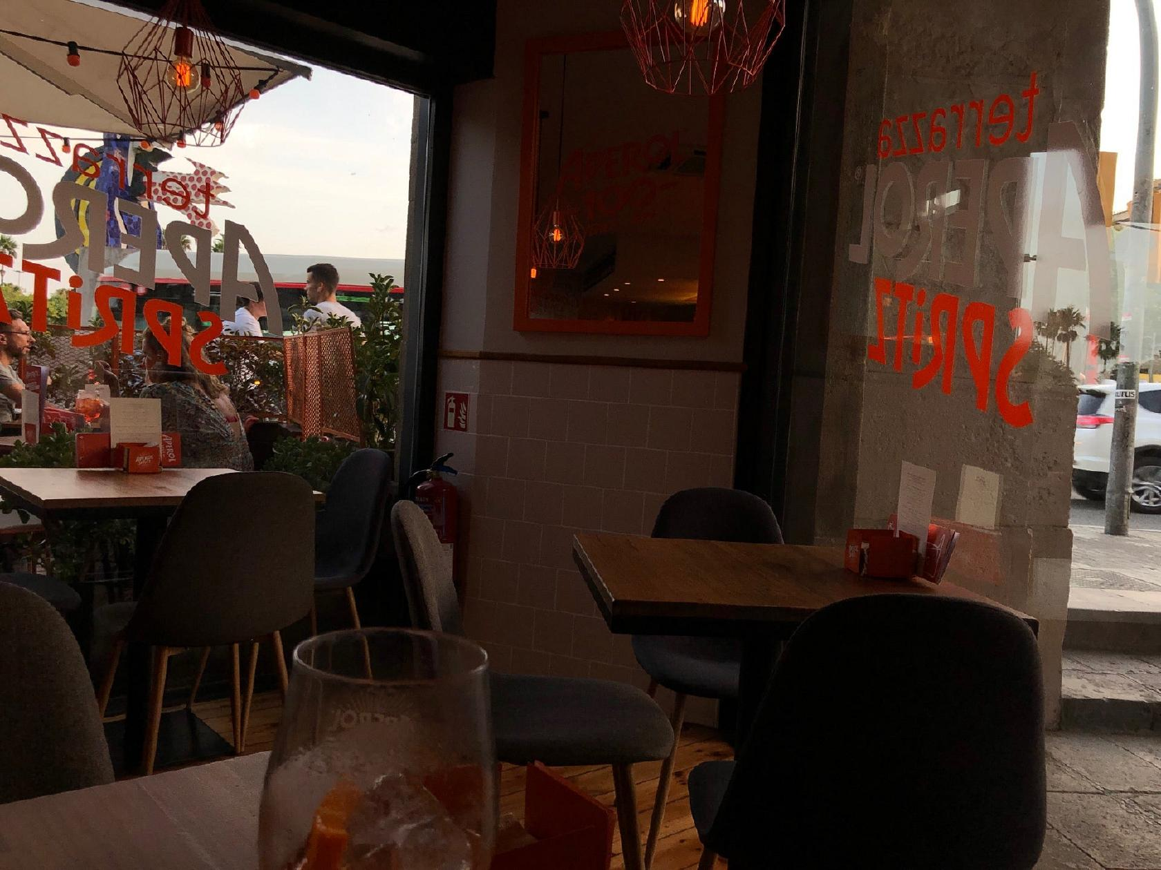 Terrazza Aperol Spritz In Barcelona Restaurant Menu And