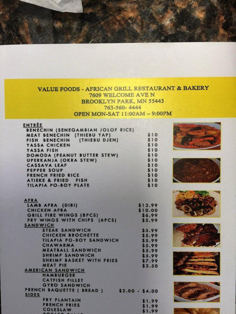 Value Foods African Market In Brooklyn Park Restaurant
