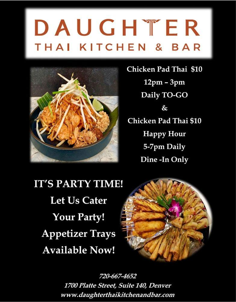 Daughter Thai Kitchen Bar In Denver Restaurant Menu And Reviews