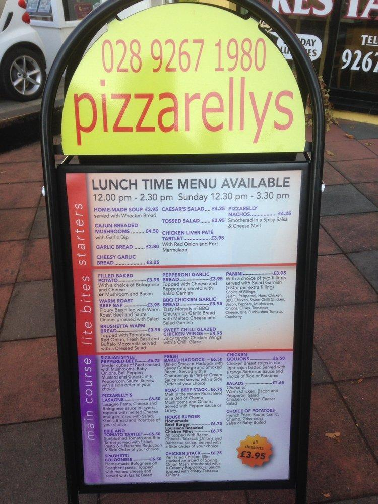 Pizzarellys In Lisburn Restaurant Menu And Reviews
