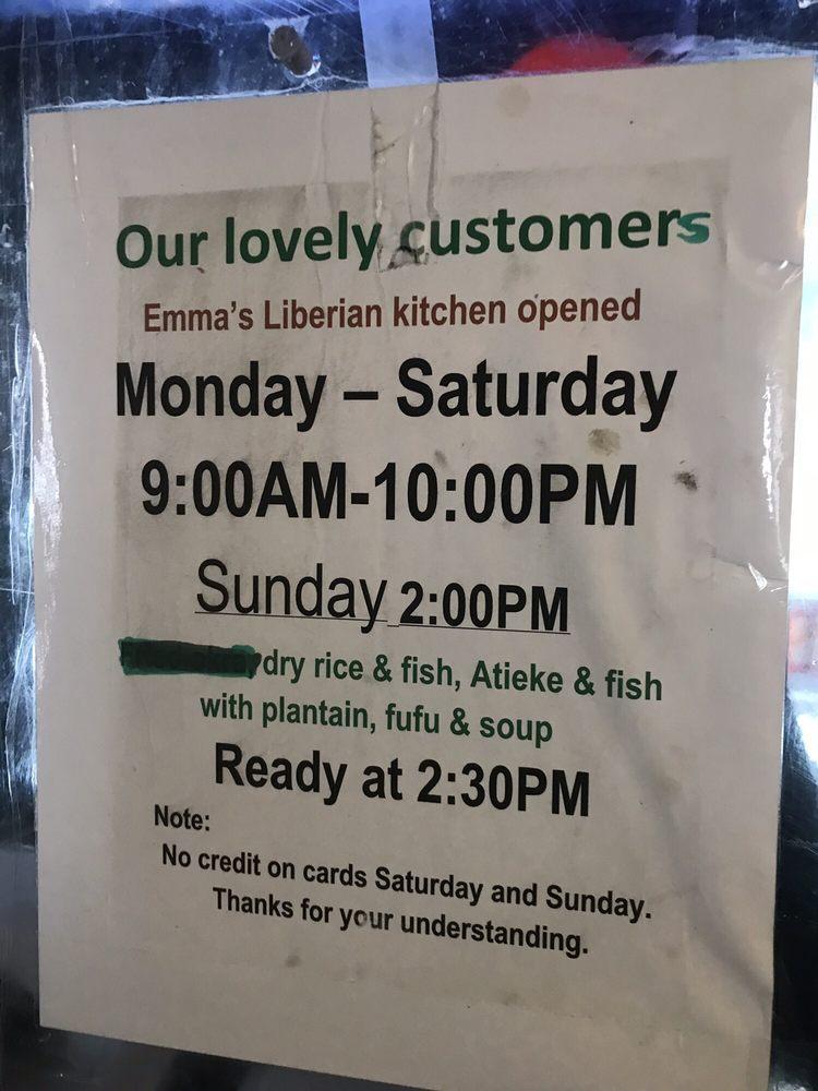 Emma S Liberian Kitchen In Philadelphia Restaurant Menu And Reviews