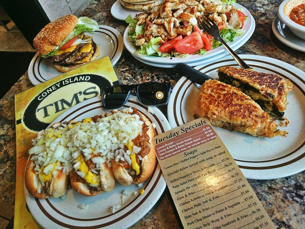 tims coney island menu